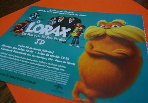 lorax convite