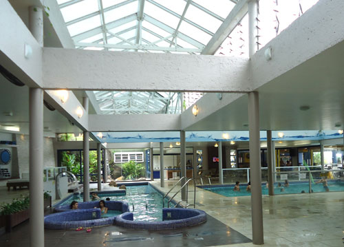 complexo de piscinas aquecidas