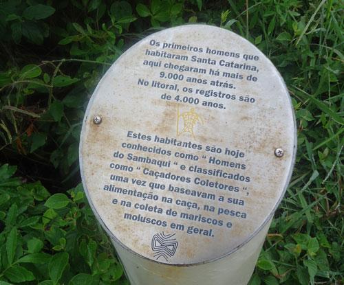Museu arqueológico do Costão do Santinho