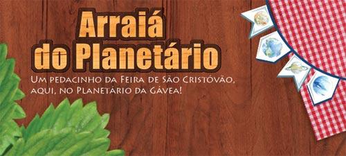 festa julina planetario da Gávea