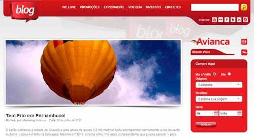 Blog da Avianca