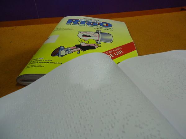bienal do livro 2013 - Planeta Ziraldo - livro em braile