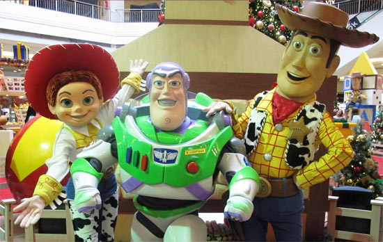 Natal West shopping -  Toy Story 2