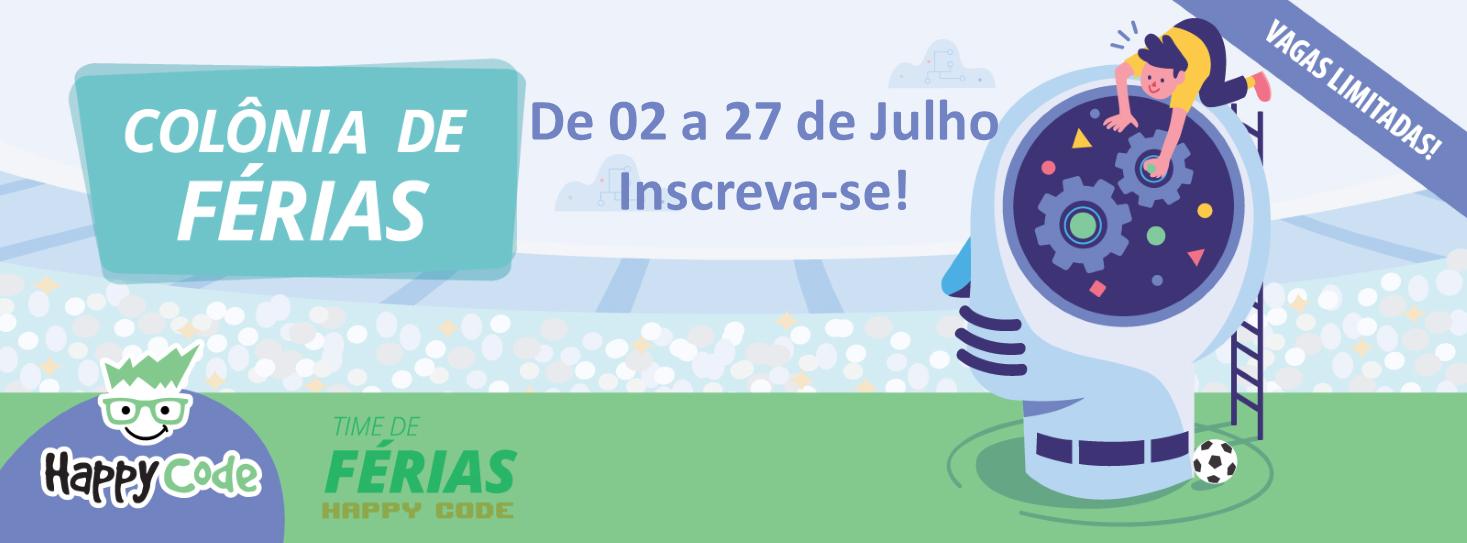 COLONIA DE FÉRIAS HAPPY CODE JUL 2018