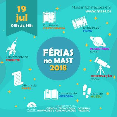 Ferias no Mast - julho 2018