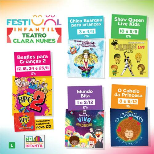... 3 de novembro, o Teatro Clara Nunes – Shopping da Gávea abre as portas  para a primeira edição do seu Festival Infantil. A cada final de semana o  público ... 9350d30bee